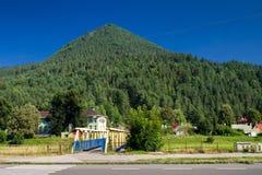 Hill Cebrat in town Ruzomberok, Slovakia. Hill Cebrat in town Ruzomberok at Slovakia royalty free stock photos