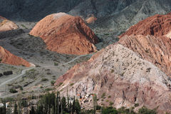 Hill of Cerro 7 colores at Purmamarca Stock Image