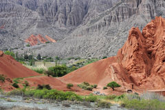 Hill of Cerro 7 colores at Purmamarca. Unesco world heritage Royalty Free Stock Photos