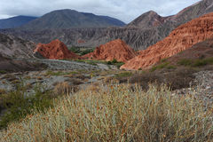 Hill of Cerro 7 colores at Purmamarca. Unesco world heritage Royalty Free Stock Photography