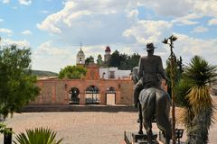 Hill chapel in colonial town Zacatecas, Mexico Royalty Free Stock Photography