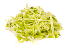 Hill chopped cabbage isolated on white background Royalty Free Stock Photo