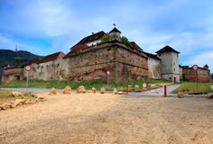The Hill Citadel, Brasov, Romania. The Hill Citadel (Cetatuia de pe Straja), it's located outside the Brasov Citadel and it's was constructed in 1625 and in 1630 Stock Images
