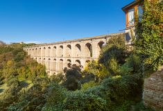 Ariccia, Italy - Little city of Castelli Romani, province of Rome. Hill city of Castelli Romani in metropolitan area of Rome, famous for the architectural works royalty free stock photo