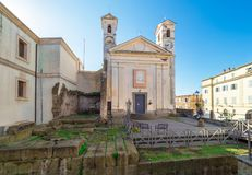 Ariccia, Italy - Little city of Castelli Romani, province of Rome. Hill city of Castelli Romani in metropolitan area of Rome, famous for the architectural works royalty free stock images