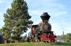 1880 Steam Train in Hill City, South Dakota royalty free stock photography
