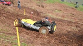 Hill Climb Car Competitors stock video footage
