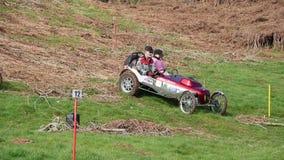 Hill climb Cars stock footage