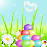 Hill from color Easter eggs Royalty Free Stock Images
