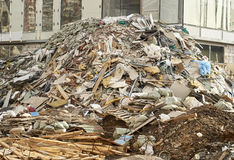 Hill of a construction garbage Royalty Free Stock Photography