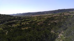 Hill country view. Beautiful uphill view in the Hill country Stock Image