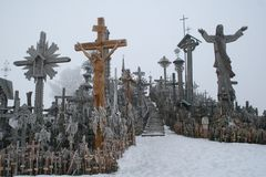 Hill of crosses. Siauliai, Lithuania Royalty Free Stock Photos