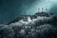 Hill of the crosses Stock Photos