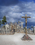Hill of crosses Stock Images
