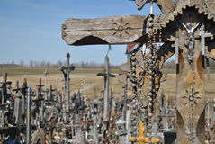 Hill of Crosses, Å iauliai, Lithuania. Hill of Crosses, near city Å iauliai in Lithuania is very famous places, where on old mass grave people brings a royalty free stock photo