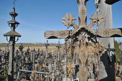 Hill of Crosses, Šiauliai, Lithuania. Hill of Crosses, near city Å iauliai in Lithuania is very famous places, where on old mass grave people brings a royalty free stock photography