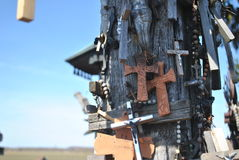 Hill of Crosses, Å iauliai, Lithuania. Hill of Crosses, near city Å iauliai in Lithuania is very famous places, where on old mass grave people brings a royalty free stock photography