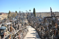 Hill of Crosses, Å iauliai, Lithuania. Hill of Crosses, near city Å iauliai in Lithuania is very famous places, where on old mass grave people brings a royalty free stock photos