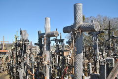Hill of Crosses, Å iauliai, Lithuania. Hill of Crosses, near city Å iauliai in Lithuania is very famous places, where on old mass grave people brings a royalty free stock images