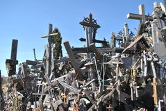 Hill of Crosses, Å iauliai, Lithuania. Hill of Crosses, near city Å iauliai in Lithuania is very famous places, where on old mass grave people brings a stock image