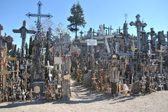 Hill of Crosses, Å iauliai, Lithuania. Hill of Crosses, near city Å iauliai in Lithuania is very famous places, where on old mass grave people brings a royalty free stock image