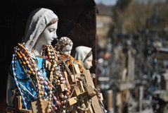 Hill of Crosses, Å iauliai, Lithuania. Virgin Mary, Hill of Crosses, near city Å iauliai in Lithuania is very famous places, where on old mass grave people stock photos