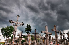 Hill of the Crosses, Lithuania. The hill of the Crosses (Kryžių kalnas) in Lithuania, one of the most important pilgrimage sights of the region and a national Royalty Free Stock Photos