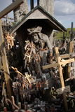 Hill of Crosses. In Lithuania Royalty Free Stock Photo
