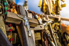 Hill of Crosses. In Lithuania Royalty Free Stock Photos