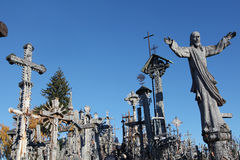 The Hill of Crosses Royalty Free Stock Photography