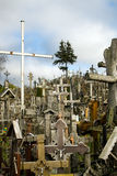 The Hill of Crosses in Lithuania Stock Image
