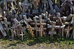 Hill of the Crosses, Lithuania Royalty Free Stock Photo
