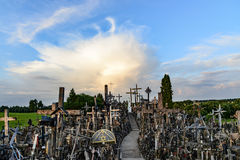 The hill of crosses, lithuania, europe Royalty Free Stock Photos
