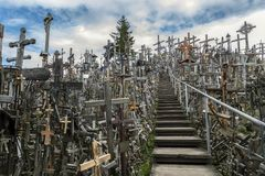 The Hill of Crosses - Lithuania Royalty Free Stock Images
