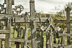 Hill of the Crosses, Lithuania. The hill of the Crosses (Kryžių kalnas) in Lithuania, one of the most important pilgrimage sights of the region and a national Stock Image