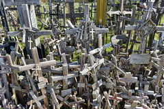 Hill of the Crosses, Lithuania. The hill of the Crosses (Kryžių kalnas) in Lithuania, one of the most important pilgrimage sights of the region and a national Royalty Free Stock Photography