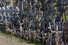 Hill of the Crosses, Lithuania. The hill of the Crosses (Kryžių kalnas) in Lithuania, one of the most important pilgrimage sights of the region and a national Stock Images