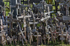 Hill of the Crosses, Lithuania. The hill of the Crosses (Kryžių kalnas) in Lithuania, one of the most important pilgrimage sights of the region and a national Stock Photography