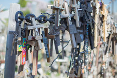 Hill of Crosses in Lithuania royalty free stock photo