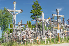 Hill of Crosses in Lithuania royalty free stock photography