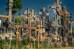 Hill of Crosses in Lithuania next to Siauliai Stock Photography