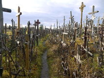 Hill of Crosses, Lithuania. Religious monument in the europe Stock Photo
