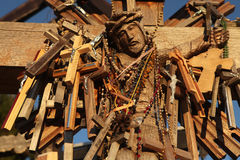 Hill of Crosses in Lithuania. Royalty Free Stock Photo