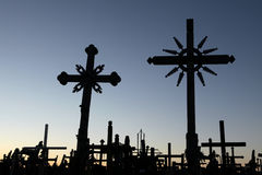 Hill of Crosses in Lithuania. Stock Photo