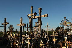 Hill of Crosses in Lithuania. Royalty Free Stock Photos