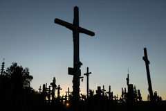 Hill of Crosses in Lithuania. Stock Photos