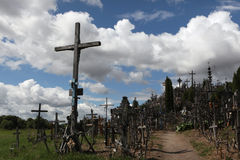 Hill of Crosses in Lithuania. Royalty Free Stock Photography