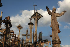 Hill of Crosses in Lithuania. stock images