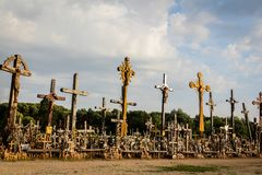 Hill of the Crosses, Lithuania royalty free stock photography