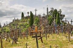Hill of Crosses near Siauliai. Lithuania Stock Photo